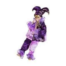 Музыкальная новогодняя кукла Арлекин