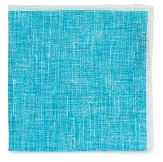 Бирюзовый льняной платок Roda