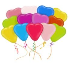 Облако из 25 латексных шаров Сердца, ассорти