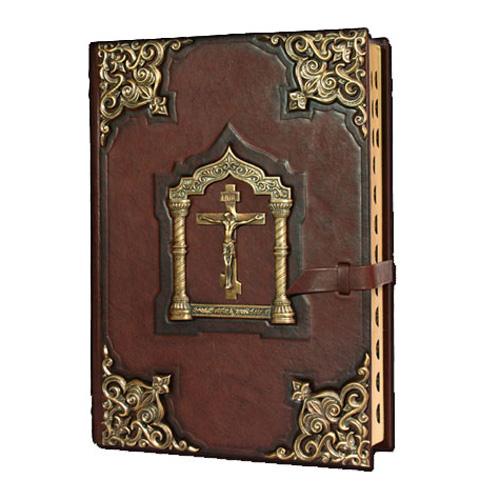 Элитная книга библия большая с литьем