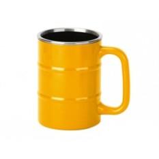 Желтая кружка «Баррель» на 400 мл