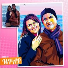 Парный WPAP портрет по фотографии