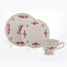 Подарочный фарфоровый чайный набор на 6 персон Роза