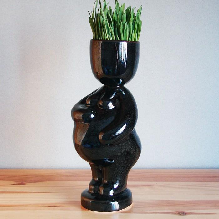 Экочеловечек Беременяша, черный