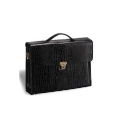 Черный кожаный женский деловой портфель Brialdi Blanes