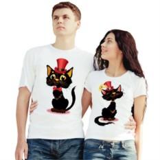 Парные футболки Коты в шляпах