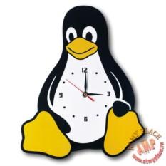 Настенные часы Пингвин Tux