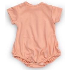 Розовый полукомбинезон с кнопками на плече для девочки