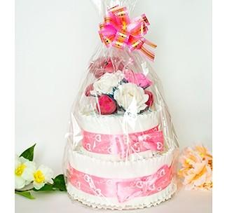 Торт из пампесов для девочки
