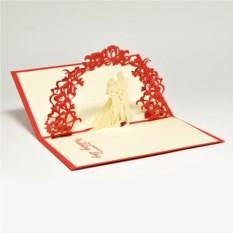 Объемная 3D открытка С днем рождения. Сердце