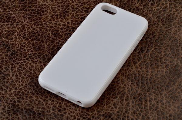 Чехол для iPhone 5 / 5S силиконовый (белый глянцевый)