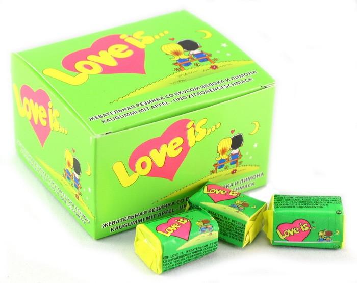 Жевательная резинка Love is... яблоко и лимон