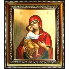 Феодоровская икона Божьей Матери на холсте.