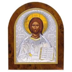 Икона Спаситель Вседержитель. Икона в серебряном окладе.