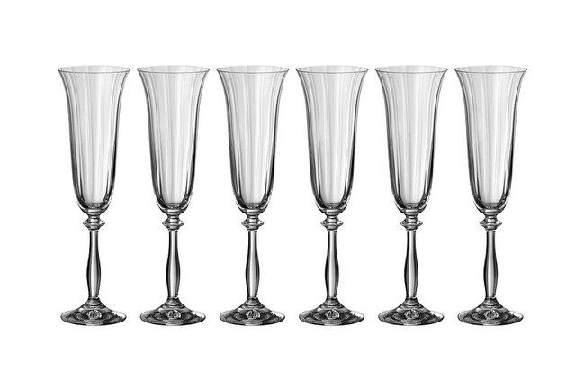 Набор 6 бокалов для вина 190 мл Crystalex Анжела оптик