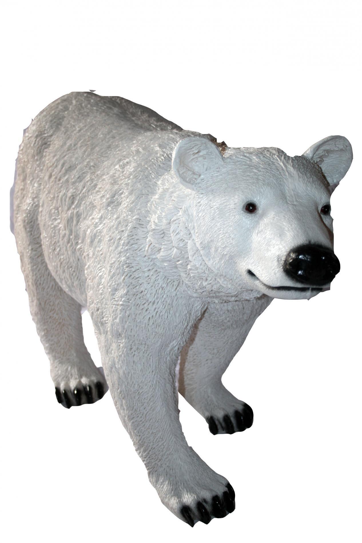 Садовая фигура Большой белый медведь