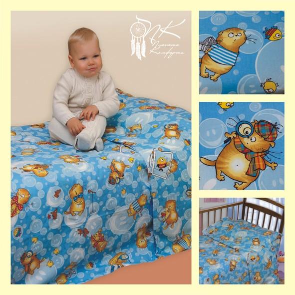 Комплект постельного белья на резинке Васики (ясельный)