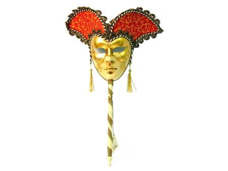Венецианская маска с ручкой
