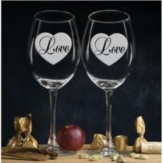 Комплект бокалов для вина Love
