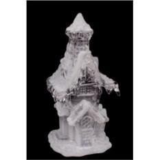 Светящийся новогодний сувенир Заснеженный дом с трубой