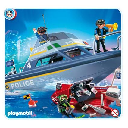 Игрушка Полицейский катер и спасательный плот