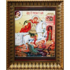 Икона с кристаллами Swarovski Георгий Победоносец