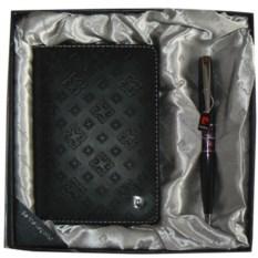 Набор ручка и черная обложка для документов Pierre Cardin