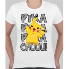 Женская футболка с покемоном Пика-пика-пикачу