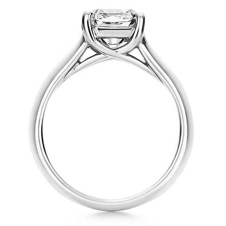 Помолвочное кольцо Люсида из белого золота на 1 карат