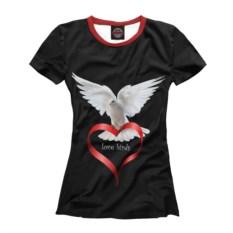 Черная футболка Любовь