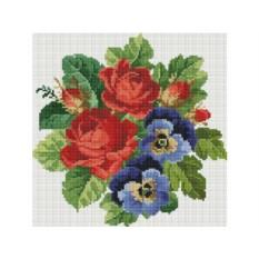 Алмазная вышивка «Букет с красными розами»