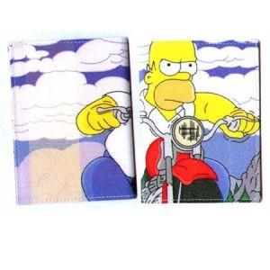 Обложка для автодокументов Гомер на байке