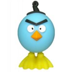 Флешка Злая птица, голубая на 16 гб