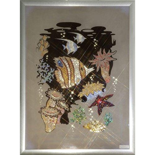 Картина из кристаллов Swarovski «Аквариум»