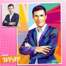 Портрет по фото в стиле WPAP