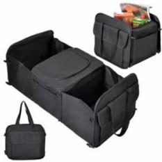 Чёрная сумка с термоотсеком для автомобиля