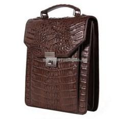Мужской портфель-планшет из кожи крокодила