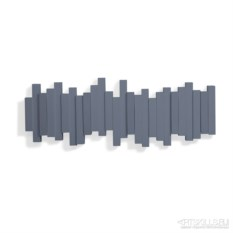 Настенная дымчато-синяя вешалка Sticks