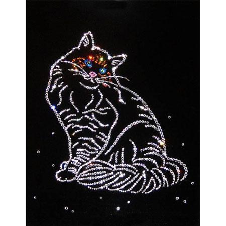 Картина с кристаллами Swarovski «Кошка»