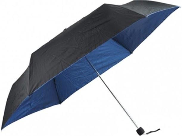 Механический черный зонт