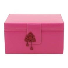 Розовая шкатулка с бантом для драгоценностей