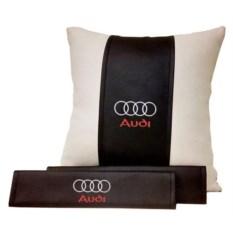 Подарочный набор из подушки, накладки на ремень Audi