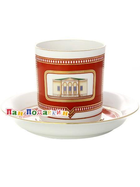 Чайная чашка с блюдцем Дом Щепочкиной