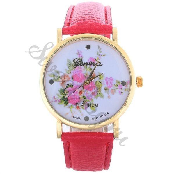 Часы Geneva Rose Bouquet – Bright Pink