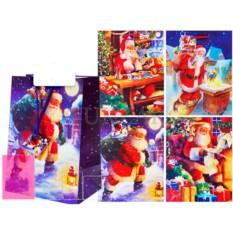 Подарочный новогодний пакет в ассортименте