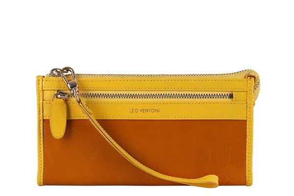 Жёлто-оранжевый женский кошелёк Leo Ventoni