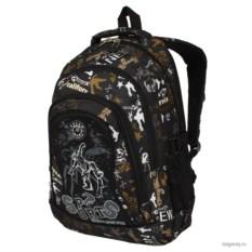Черно-коричневый рюкзак Polar School Sports