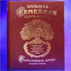 Большая семейная книга-альбом Родословное древо из кожи