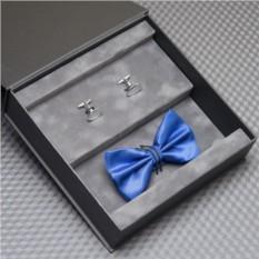 Подарочный набор: галстук-бабочка и запонки с гравировкой