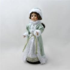 Фарфоровая кукла Снегурочка (зеленое платье)